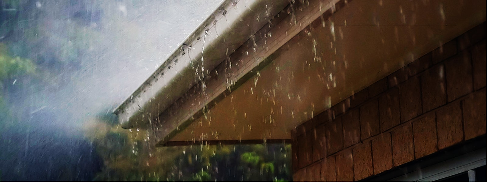 Clogged Overflowing Gutters