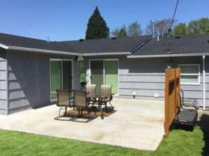 Portland Oregon White Rain Gutter Installation